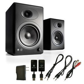 A5+ Classic Powered Bookshelf Speakers with W3 Wireless Kit