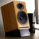View Larger Image of DS2 Desktop Speaker Stands for A5+ or P4 - Pair (Black)