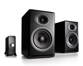 P4 Passive Bookshelf Speakers and N22 Audio Amplifier Desktop Audio Speaker System