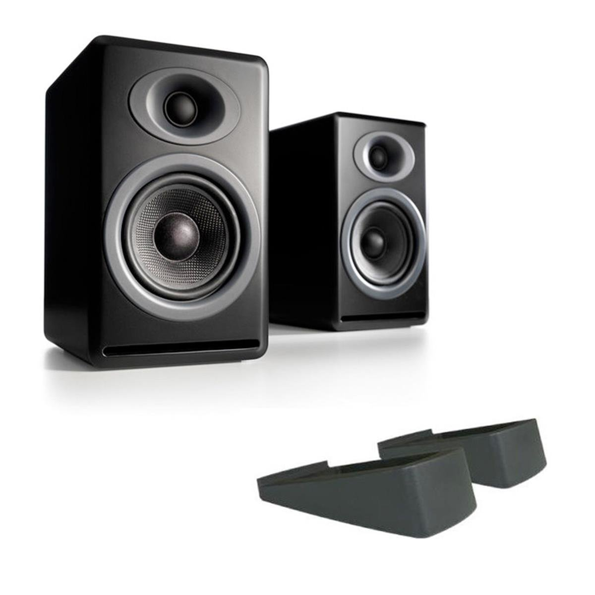 audioengine p4 premium passive bookshelf speakers with ds2 desktop