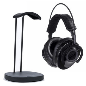 NightHawk Carbon Over-Ear Semi-Open Headphones with Perch Headphone Stand