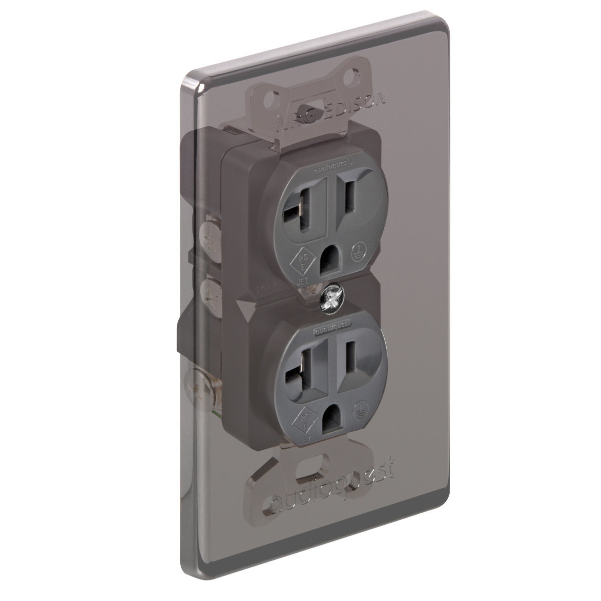 AudioQuest NRG Edison Duplex Wall Outlet - 20 Amp | World Wide Stereo