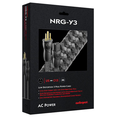 View Larger Image of NRG-Y3 Low-Distortion 3-Pole AC Power Cable - 3.28' (1m)