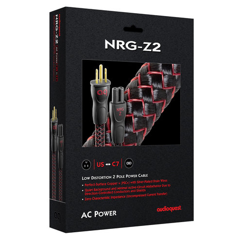 View Larger Image of NRG-Z2 Low-Distortion 2-Pole AC Power Cable - 19.68' (6m)