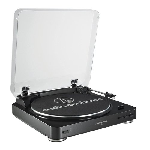 View Larger Image of AT-LP60 Fully Automatic Stereo 2-Speed Turntable System (Black) with Audioengine A2+ Premium Powered Desktop Speakers