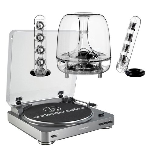 View Larger Image of AT-LP60 Fully Automatic Stereo 2-Speed Turntable System with Harman Consumer SoundSticks III 2.1 Plug and Play Multimedia Speaker System
