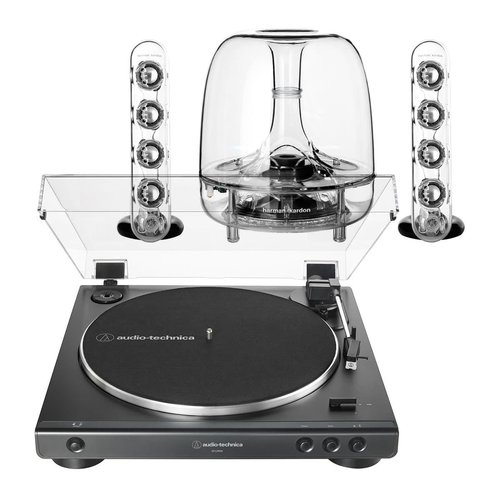 View Larger Image of AT-LP60X Fully Automatic Belt-Drive Stereo Turntable with Harman Kardon SoundSticks III 2.1 Plug and Play Multimedia Speaker System