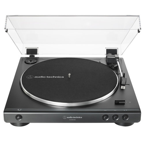 View Larger Image of AT-LP60XUSB Fully Automatic Belt-Driven Stereo Turntable with USB Output (Black) and Kanto YU Powered BT Bookshelf Speakers (Matte Black)