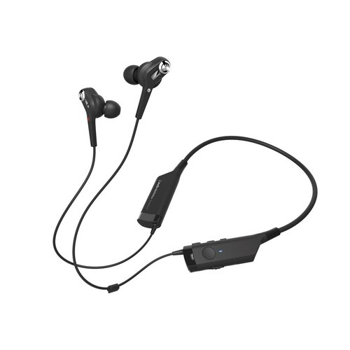 View Larger Image of ATH-ANC40BT QuietPoint Active Noise-Canceling Wireless In-Ear Headphones (Black)