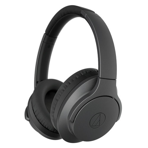 View Larger Image of ATH-ANC700BTBK QuietPoint Wireless Active Noise-Cancelling Headphones with Built-In Controls (Black)