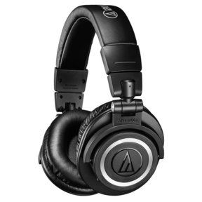 ATH-M50xBT Wireless Over-Ear Headphones with Built-In Remote and Microphone (Black)