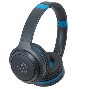 ATH-S200BT Wireless On-Ear Headphones with Built-In Microphone and Controls