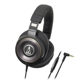 ATH-WS1100iS  Solid Bass Over-Ear Headphones with In-line Mic & Control (Black)