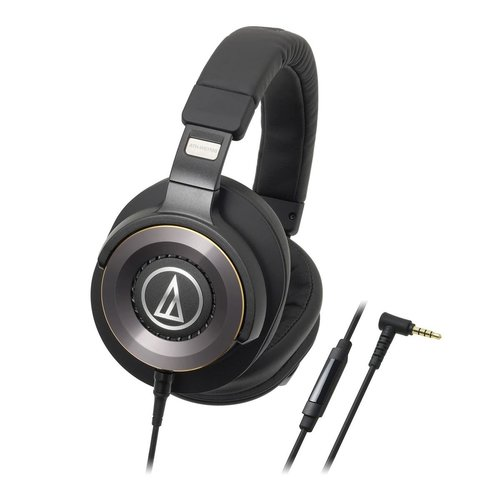 View Larger Image of ATH-WS1100iS  Solid Bass Over-Ear Headphones with In-line Mic & Control (Black)