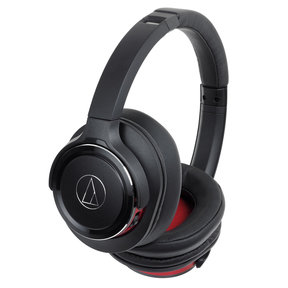 ATH-WS660BT Solid Bass Wireless Over-Ear Headphones with Built-In Microphone and Remote