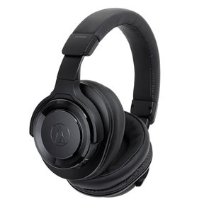 ATH-WS990BT Wireless High-Resolution Noise-Cancelling Over-Ear Headphones with Built-In Microphone and Control (Black)