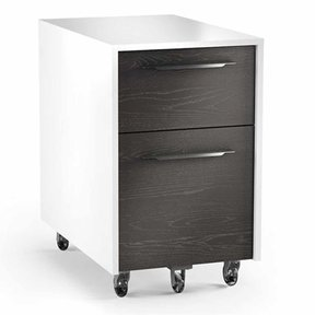 Format 6307 Mobile File Pedestal (Charcoal with Satin White Finish)