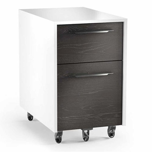 View Larger Image of Format 6307 Mobile File Pedestal (Charcoal with Satin White Finish)