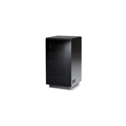 View Larger Image of Mirage 8222 Enclosed A/V Tower (Satin Black with Black Glass Top)