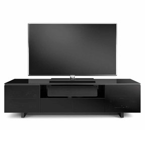 """Nora 8239-Slim Quad Wide Cabinet for TVs up to 82"""" (Gloss Black)"""