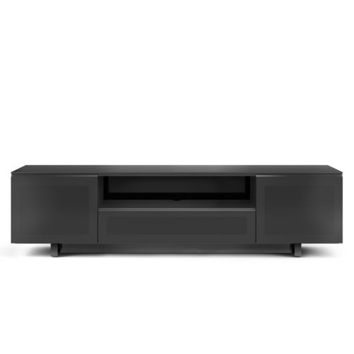 "View Larger Image of Nora 8239-Slim Quad Wide Cabinet for TVs up to 82"" (Gloss Black)"