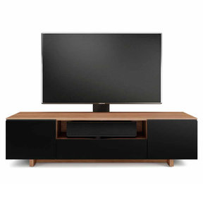 """Nora 8239-Slim Quad Wide Cabinet for TVs up to 82"""" (Walnut)"""