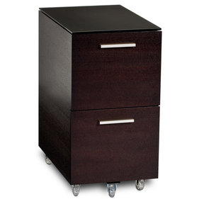 Sequel 6005 Tall Mobile File Pedestal (Espresso)