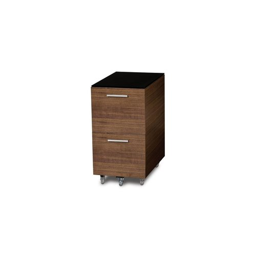 View Larger Image of Sequel 6005 Tall Mobile File Pedestal (Walnut)