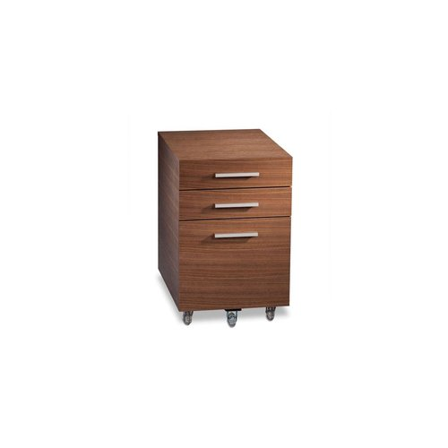 View Larger Image of Sequel 6007 Low Mobile File Pedestal Cabinet (Walnut)