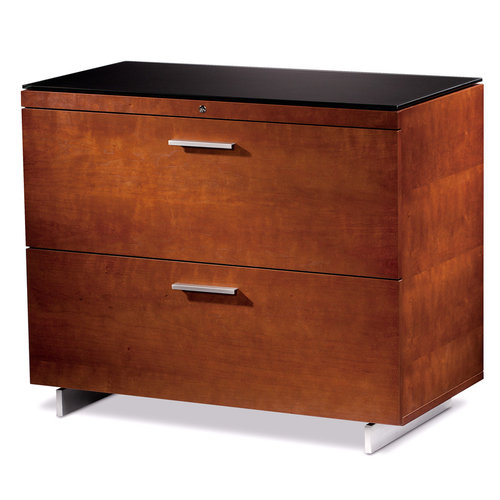View Larger Image of Sequel 6016 Lateral File Cabinet (Cherry)