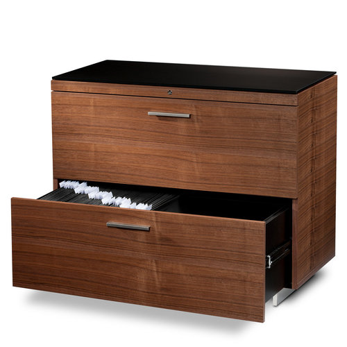 View Larger Image of Sequel 6016 Lateral File Cabinet (Walnut)