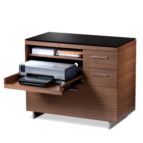 View Larger Image of Sequel 6017 Multifunction Cabinet (Walnut)
