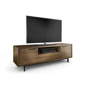 Signal 8329 Triple Wide Enclosed TV Cabinet - Tall (Natural Walnut)