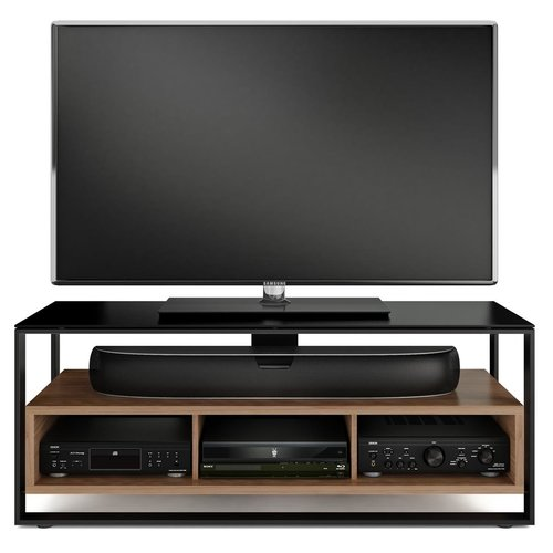 View Larger Image of Sonda 8656 Triple Wide Open TV Cabinet (Natural Walnut)