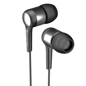 Byron Wired In-Ear Headphones with Three-Button Android Remote and Mic (Black)