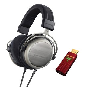 T1 Tesla Audiophile Stereo Headphone 2nd Gen with Audioquest DragonFly Red USB DAC