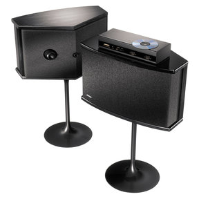 901 Series Speaker System Bundle With Equalizer and Stands (Black)