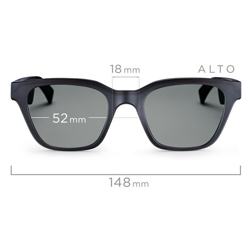 View Larger Image of Frames Alto M/L Bluetooth Audio Sunglasses with Integrated Microphone and Two Replacement Lenses (Mirrored Silver and Blue)