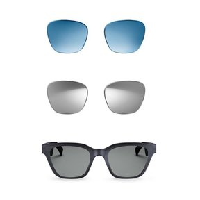 Frames Alto S/M Bluetooth Audio Sunglasses with Integrated Microphone and Two Replacement Lenses (Mirrored Silver and Blue)