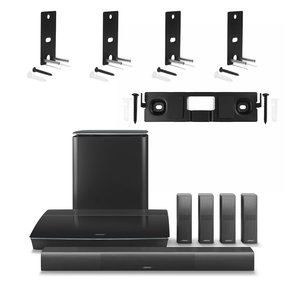 Lifestyle 650 Home Entertainment System with 2 Pairs of OmniJewel Wall Brackets and OmniJewel Center Channel Wall Bracket