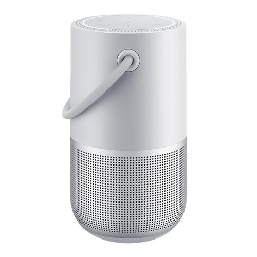 View Larger Image of Portable Home Speaker with Charging Cradle (Luxe Silver)