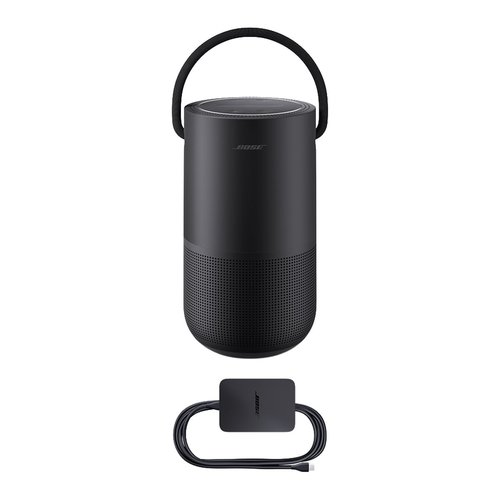 View Larger Image of Portable Home Speaker with Charging Cradle (Triple Black)