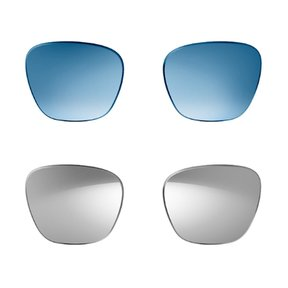 Replacement Lenses (2 pair) for Bose Alto M/L Bluetooth Audio Sunglasses with Integrated Microphone (Blue and Mirrored Silver lenses)