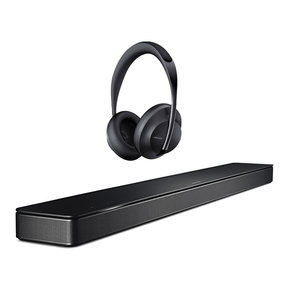 Sound Bar 500 with Built-In Voice Control with Noise Cancelling Headphones 700 (Black)