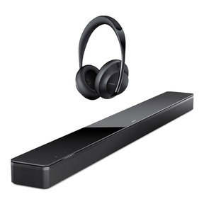 Sound Bar 700 with Built-In Voice Control (Black) with Noise Cancelling Headphones 700 (Black)