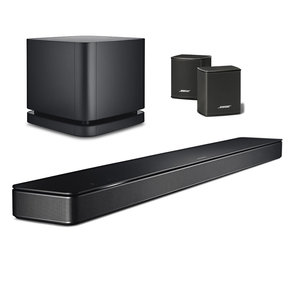 """Soundbar 500 5.1 Home Theater System with Built-In Amazon Alexa, Surround Wireless Speakers, and Bass Module 500 10"""" Wireless Subwoofer (Black)"""