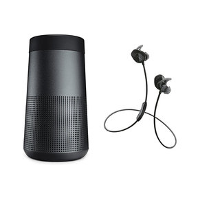 SoundLink Revolve Bluetooth Speaker with Bose SoundSport In-Ear Wireless Headphones (Black)