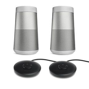 SoundLink Revolve Bluetooth Speakers (Black) with SoundLink Revolve Charging Cradles - 2 Pack