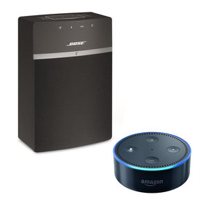 SoundTouch 10 Wireless Music System with Amazon Echo Dot Smart Speaker (Black)