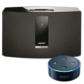 SoundTouch 20 III Series Wireless Music System with Amazon Echo Dot Smart Speaker (Black)